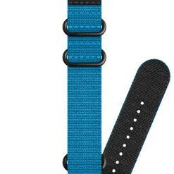 Suunto D5 Strap 24mm Dive 2 Textile Zulu Strap Kit D5 Blue/Black L