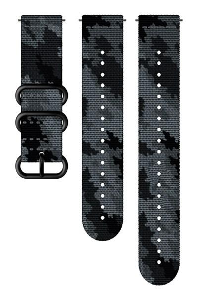 Suunto D5 Strap 24mm Explore 2 Textile Strap Kit D5 Concrete/Black M+L
