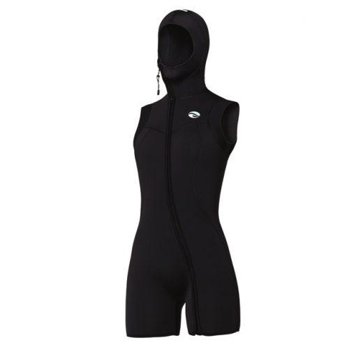 Bare 7mm Nixie S-Flex Step-In Hooded Vest Black Women