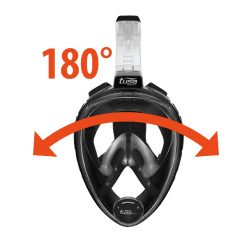 Tusa 8001-BK Fullface Snorkelmask